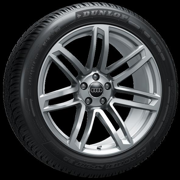 Winterkomplettrad-Satz im 7-Doppelspeichen-Design 245/40 R18 97V Dunlop Audi TT ab MJ 2016