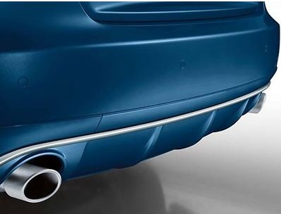 Sport-Endrohrblende chrom für Audi A4/A5 B8 Einzelrohr links + rechts
