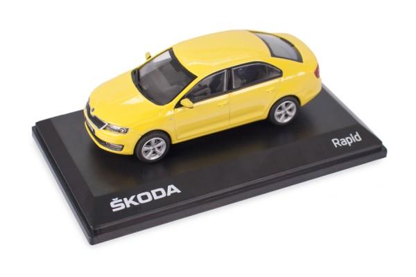 ŠKODA Modellauto RAPID 1:43, Farbe Sprint-Gelb