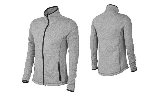 ŠKODA Sportsweater/Fleecejacke, Damen, graumeliert