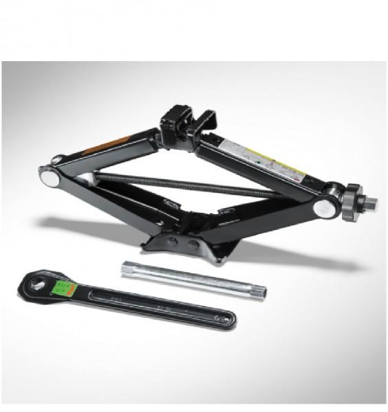 Wagenheber für Fahrzeuge mit Reifenreparaturset oder Faltrad