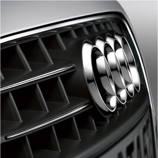 Zierleisten Kühlergrill Audi A4 8K, chromoptik