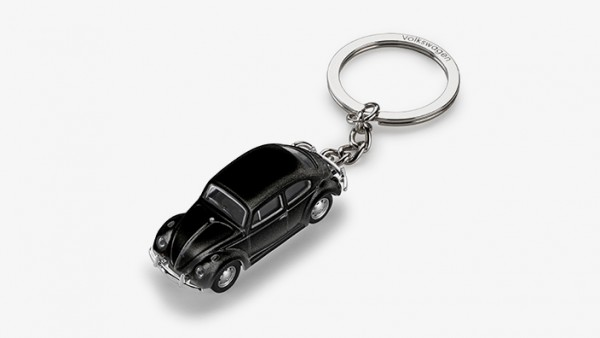 VW Klassik Schlüsselanhänger mit 3D Käfer-Modell