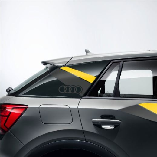 Dekorfolie im Flanken-Design Audi Q2 macaogelb/daytonagrau