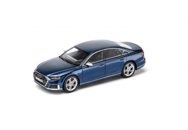 Modellauto Audi S8 limitiert, Navarrablau, 1:43
