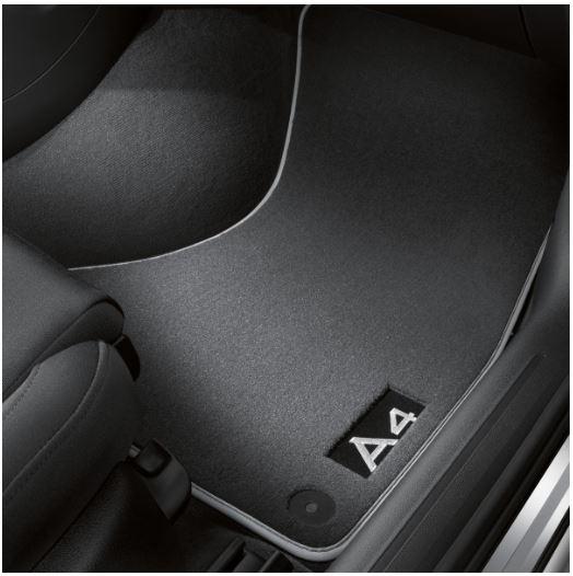 1 Satz Textilfußmatten Premium schwarz, silbergrau für Audi A4 8K