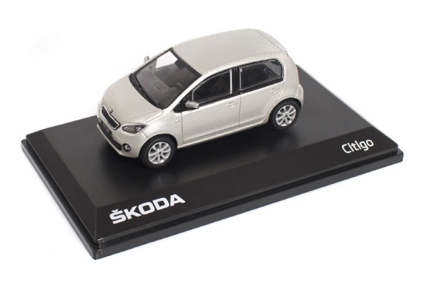 ŠKODA Modellauto CITIGO, 1:43, Farbe Silver-Leaf