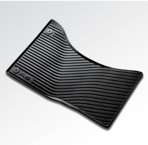 Gummifußmatten für Audi A5 8T, vorne, schwarz