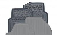 ŠKODA Gummifußmatten-Set mit Bügelaufhänger, 2-teilig, hinten, Fabia III (NJ)