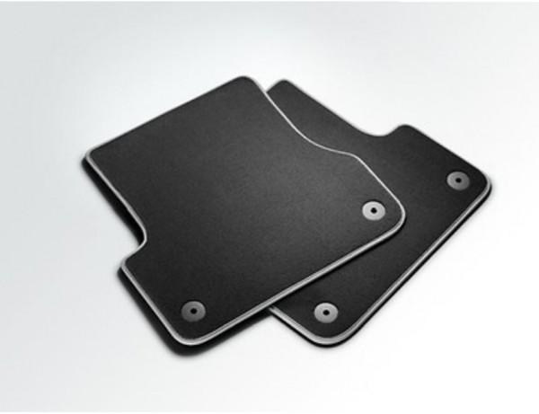 Textilfußmatten Premium hinten, schwarz/silbergrau Audi A8 2010 - 2017