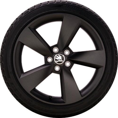 ŠKODA Winterkomplettradsatz Fabia/Rapid 215/40 R17 87V XL Bridgestone, Alufelge schwarz