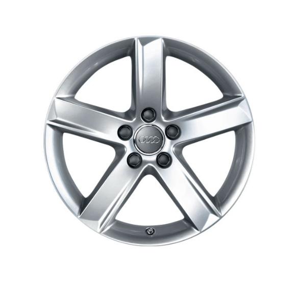 Winter-Aluminium-Gussrad im 5-Arm-Designbrillantsilber, 7,5 J x 17