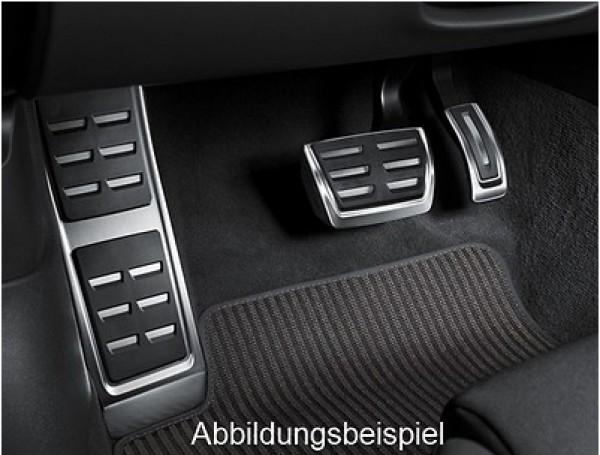 Edelstahl Pedalkappen-Satz inkl. Fußstütze für Audi A4/A5 8W Automatikgetriebe