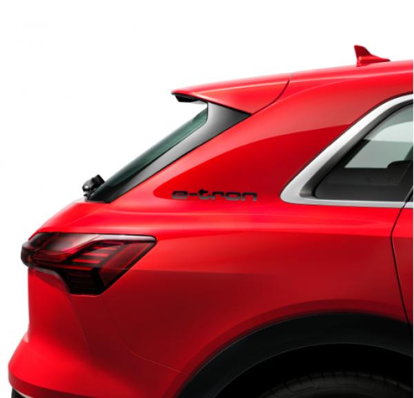 Audi Dekorfolie E-tron Schriftzug, Brillantschwarz, 2er