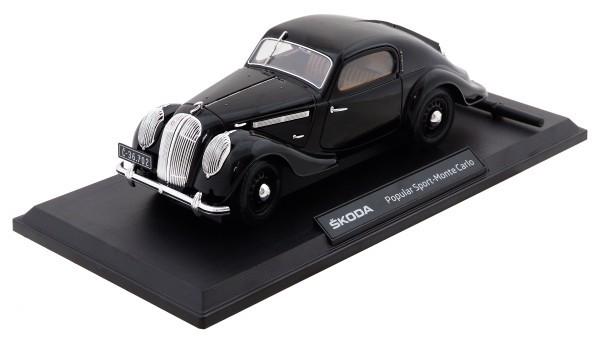 ŠKODA Modellauto Popular 1936, 1:18, Farbe Schwarz