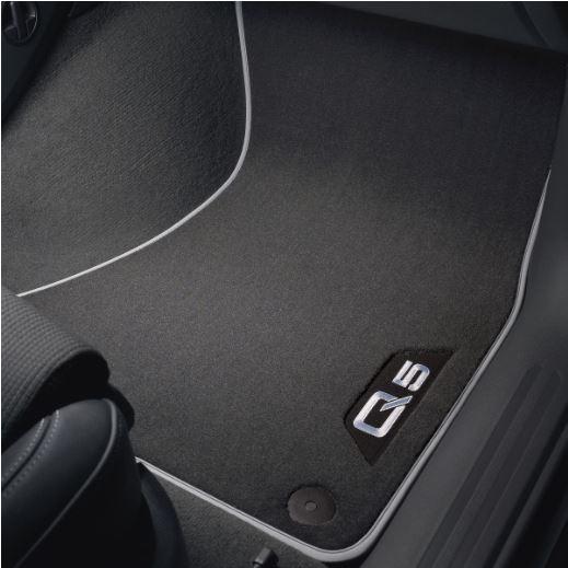 Textilfußmatten Premium Audi Q5 8R vorne und hinten, schwarz/silbergrau MJ 2009 - 2017