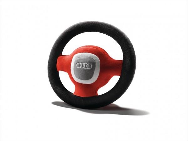 Audi Plüschlenkrad grau/rot/schwarz