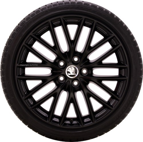 ŠKODA Winterkomplettradsatz Ocatvia | Yeti | Superb 225/40 R18 92V Pirelli auf Alufelge Borbet BS5 m