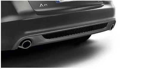 Sport-Endrohrblenden Edelstahl verchromt, Audi A6 4F 4-Zylinder
