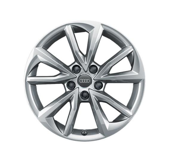 Winter-Aluminium-Gussrad im 5-Arm-Falx-Designbrillantsilber, 7 J x 17