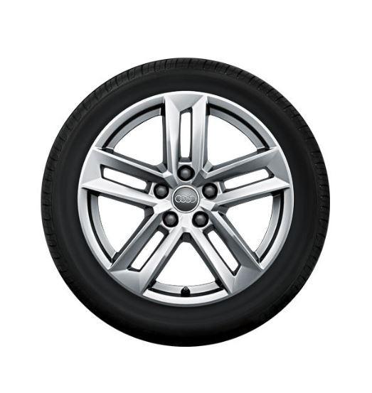 Winterkomplettrad-Satz im 5-Parallelspeichen-Design für Audi A4 8W 225/50 R17