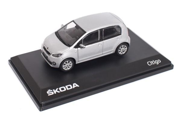 ŠKODA Modellauto CITIGO, 1:43, Farbe Brillant-Silber