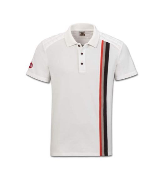 Audi Sport heritage Poloshirt, Herren, offwhite, Größe S - XXL