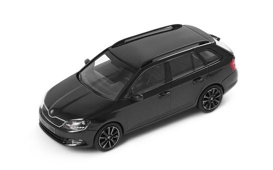 ŠKODA Modellauto Fabia Combi III, 2015, 1:43, Farbe Black-Magic