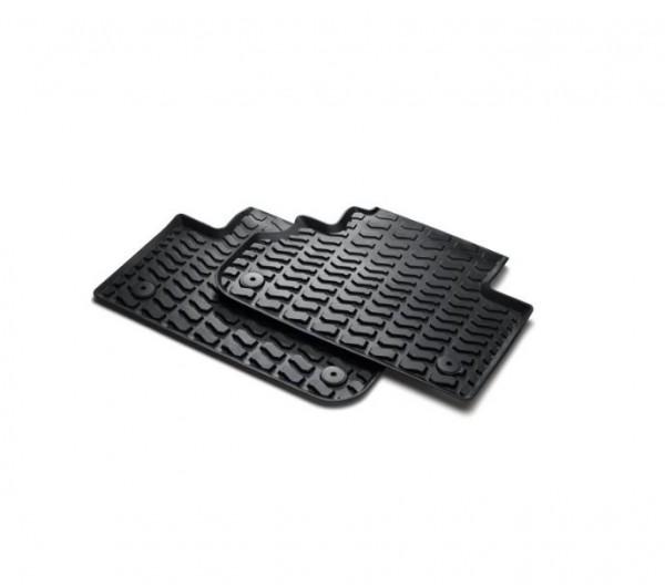Gummifußmatten hinten, schwarz für Audi Q3 8U