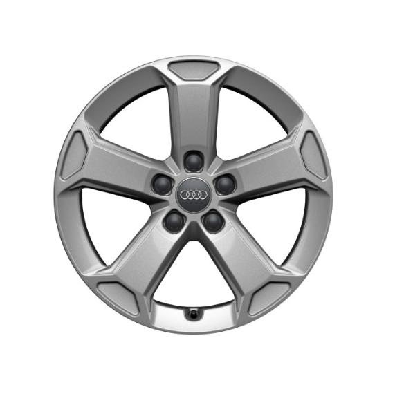 Winter-Aluminium-Gussrad im 5-Arm-Latus-Designbrillantsilber, 7 J x 17