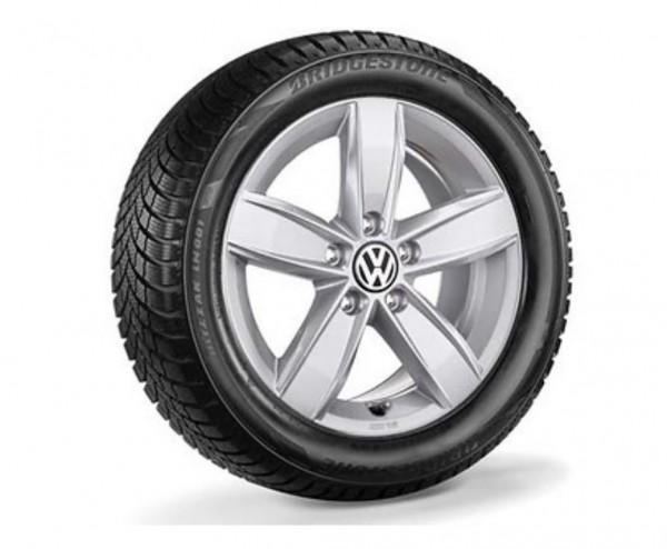 Volkswagen Golf Winterkomplettradsatz 205/55 R16 91H Bridgestone Blizzak LM001 EVO, Corvara, brillan