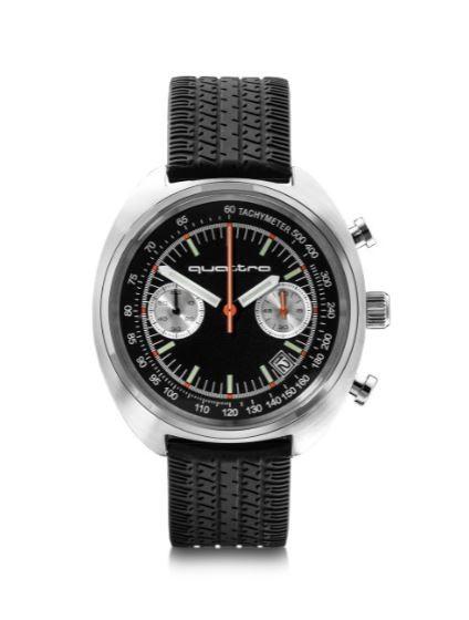 Audi Sport heritage Chronograph, schwarz/silber