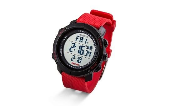 ŠKODA Digital Armbanduhr Monte Carlo, Schwarz/Rot