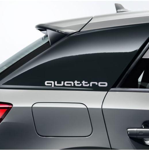 Dekorfolie quattro, florettsilber Audi Q2 für Seitenblade