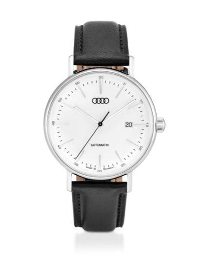 Audi Automatikuhr Limited Edition, Herren, silber/schwarz