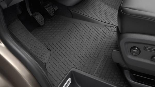 Volkswagen Allwetterfußmatten vorn, titanschwarz, Transport T5 und T6