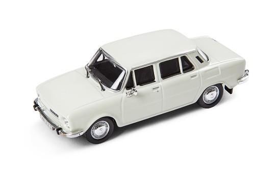 ŠKODA Modellauto 110L (1973), Modell 1:43, Farbe Weiß