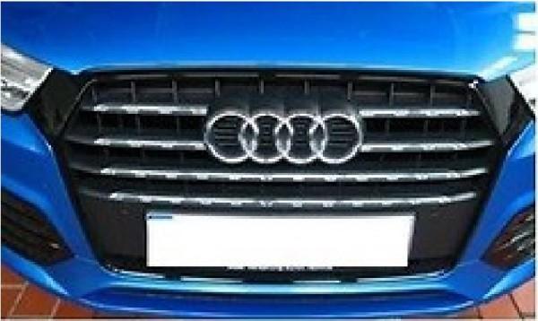 Zierleisten Chromoptik Kühlergrill für Audi Q3 8U ab MJ 2015