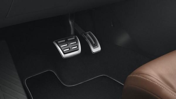 Pedalkappen aus Edelstahl für VW T-Cross Fahrzeuge mit DSG