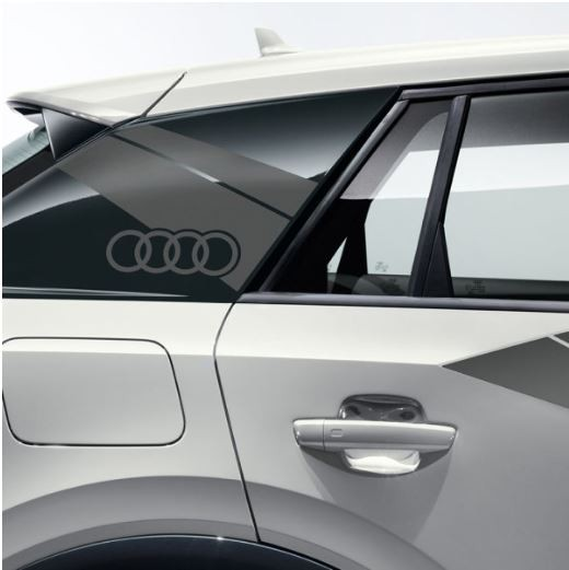 Dekorfolie im Flanken-Design Audi Q2 daytonagrau matt