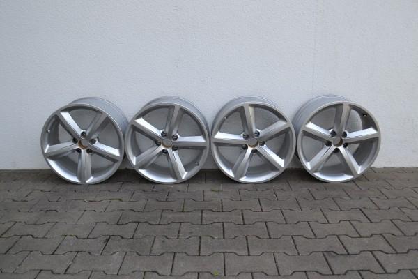4x Alufelge für Audi A5 8,5x18 ET29, silber, gebraucht