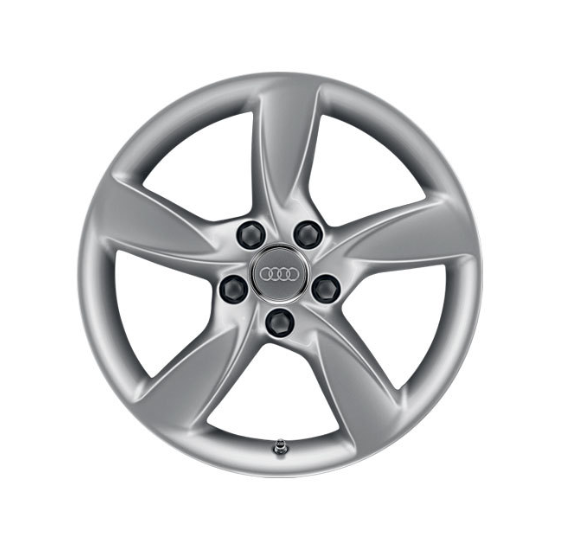 Winter-Aluminium-Gussrad im 5-Arm-Helica-Designbrillantsilber, 7,5 J x 17
