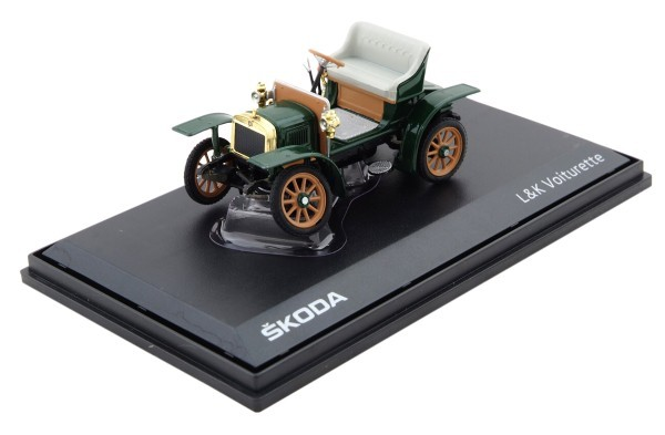 ŠKODA Modellauto Voiturette, 1:43, Farbe Grün