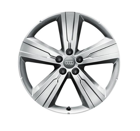 Winter-Aluminium-Gussrad im 5-Arm-Crena-Designbrillantsilber, 8 J x 20