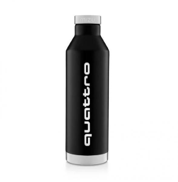 Audi quattro Isolierflasche, schwarz