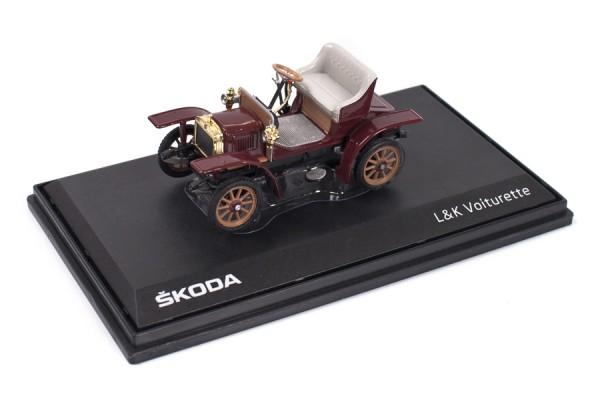 ŠKODA Modellauto Voiturette, 1:43, Farbe Rot