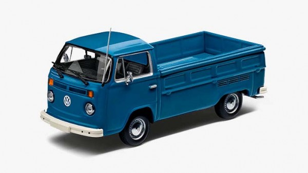 Modellauto Volkswagen T2 Pritschenwagen 1:43, Neptunblau