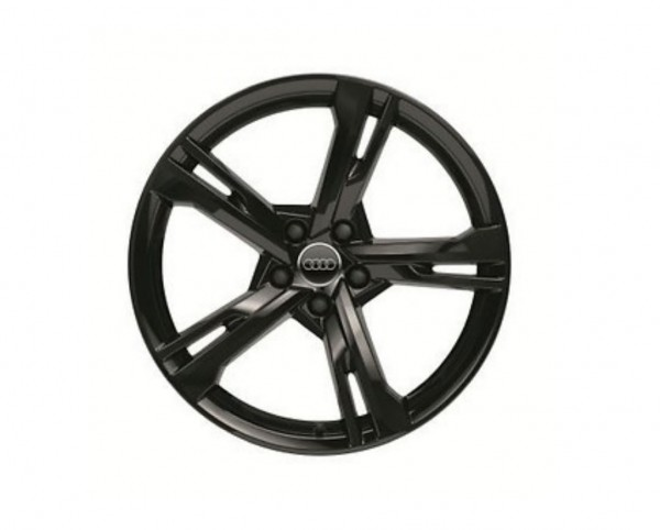 Winterkomplettrad-Satz im 5-Arm-Ramus-Design schwarz glänzend 255/40 R20 101W Pirelli Audi A7 ab MJ