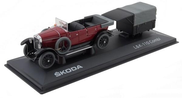ŠKODA Modellauto L&K-SKODA 110 Combi 1922, 1:43, Farbe: Pruple Red
