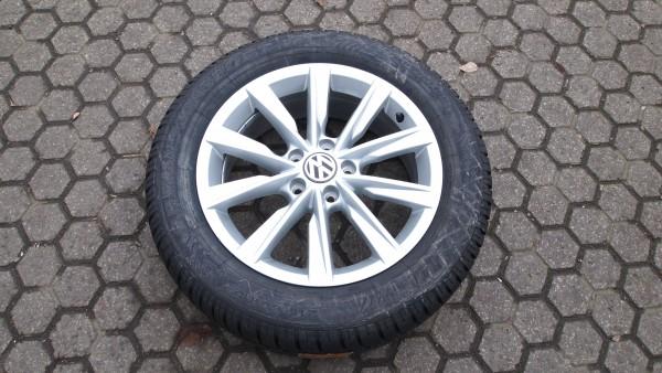 VW Winterkomplettradsatz Tiguan 215/60 R17 96H Dunlop Winter Sport DOT 2015